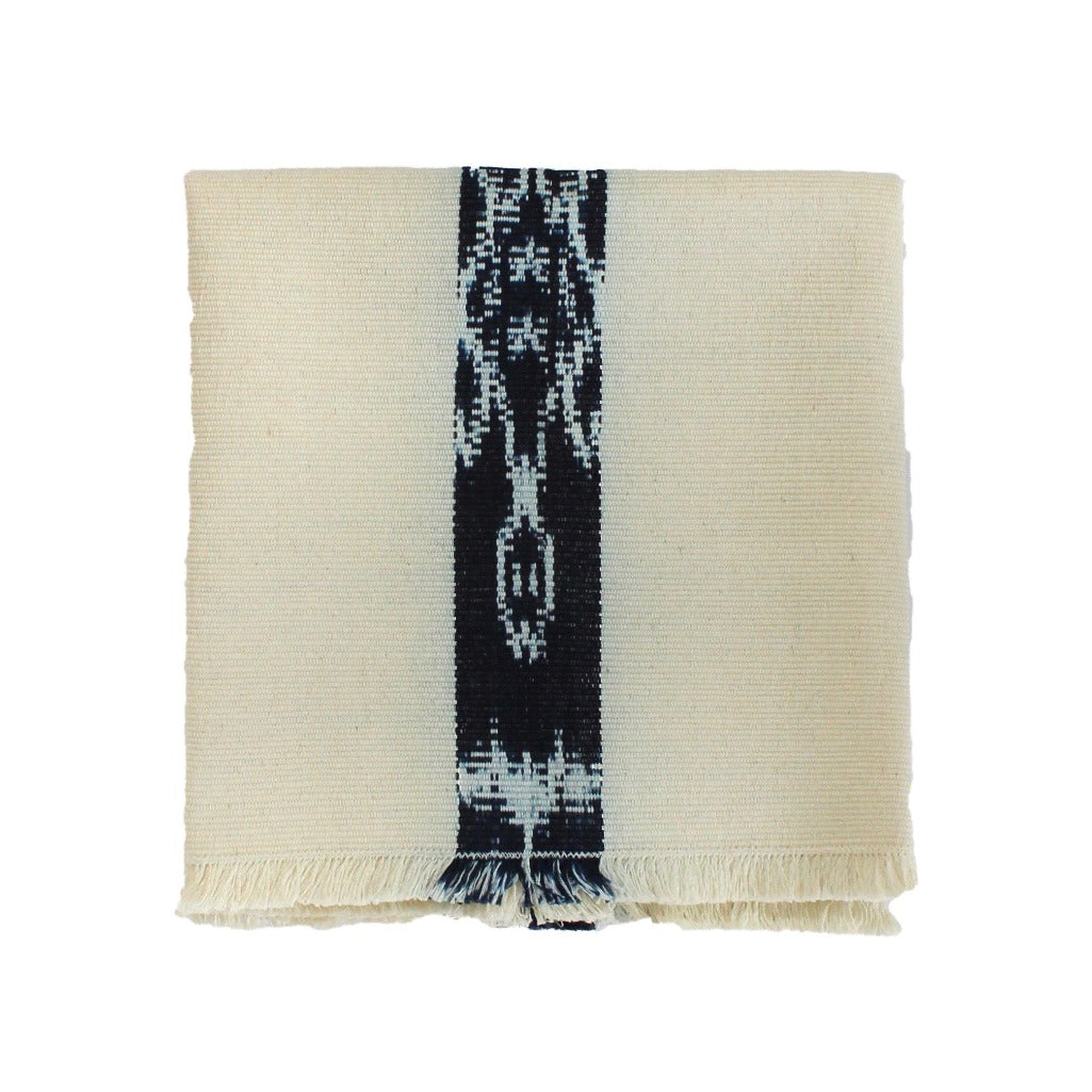 Living Threads Co. artisanal cotton napkins in naturally dyed white cotton handwoven by Guatemalan artisans.