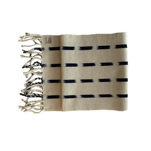 Living Threads Co. hand crafted eco-dyed handwoven TIPICA table runner in Natural