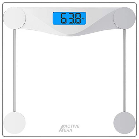 Ultra Slim Digital Bathroom Scales with High Precision Sensors and Tempered Glass