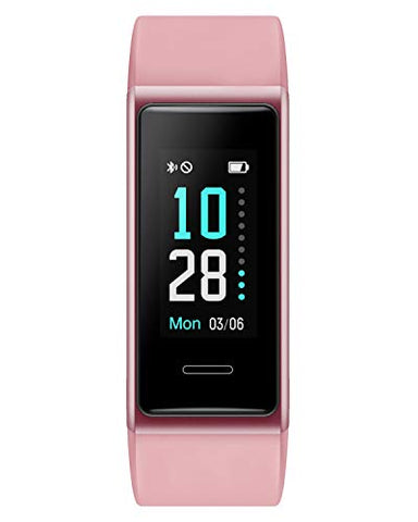 Willful Fitness Tracker 2020 New Version IP68 Waterproof, Fitness Watch Heart Rate Monitor with Calories/Step Counter Sleep Tracker Stopwatch Health Tracker Fit Watch for Men Women Kids (Pink)