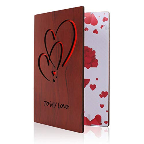 Wooden Love Cards Valentine's Day Card