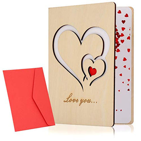 Wooden Greeting Cards, Wooden Anniversary Cards
