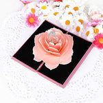 Ring Box 3D Pop Up Rose Ring Box