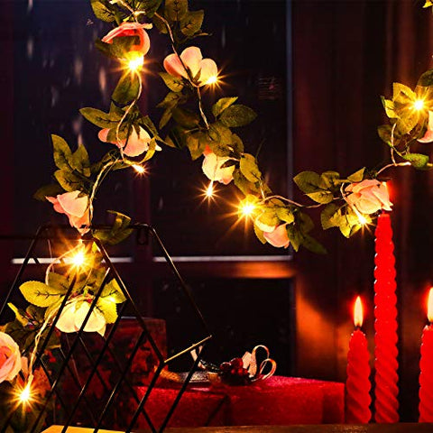 2 Pieces Artificial Rose Vine Garlands Valentine's