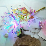 Gold Rose Gifts for Women Artificial Roses LED Light Multi Color