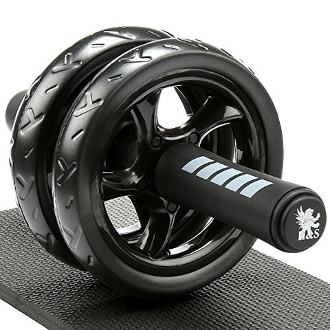 Ab Abdominal Exercise Roller With Extra Thick Knee Pad Mat