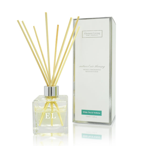 White Tea & Verbena Fragrance Diffuser 120ml - Aroma di Casa