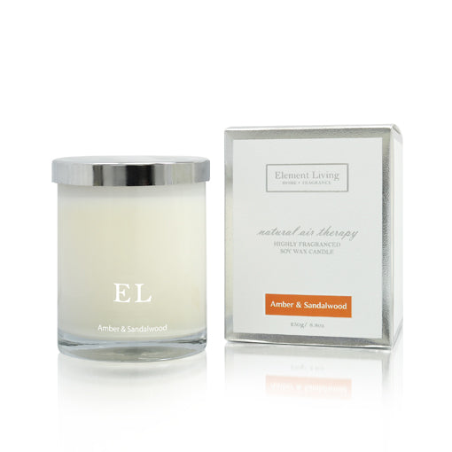 Home Fragrance | Amber & Sandalwood Scented Soy Candle
