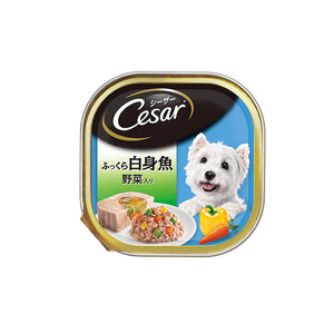 Cesar Adult Tuna with White Meat Fish & Vegetables, Premiun Wet Dog Food 100 g