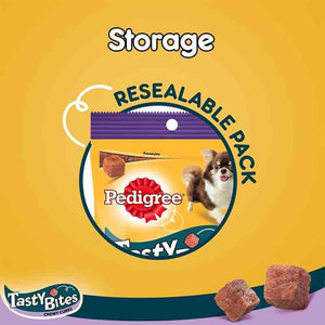 Pedigree Tasty Bites Chewy Cubes, Lamb Flavour, Dog Treat 50 gm (Pack of 12 pouches)