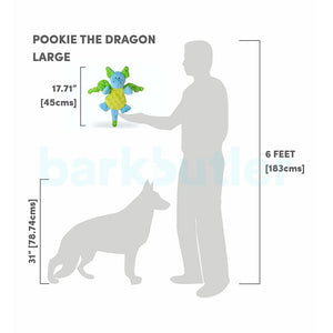 Barkbutler Pookie The Dragon Soft Toy for Dog