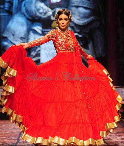 2106 Red anarkali gown