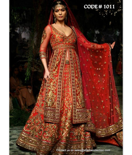 1011 Red bridal lacha