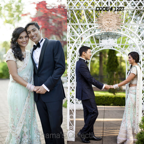 1227 Bridal Mint Lengha
