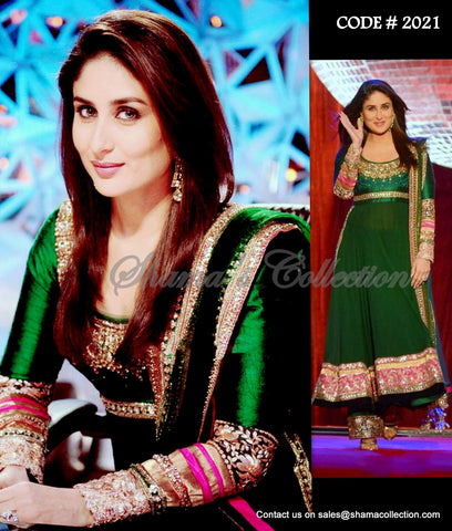 2021 Kareena Kapoor's green anarkali with palazzo