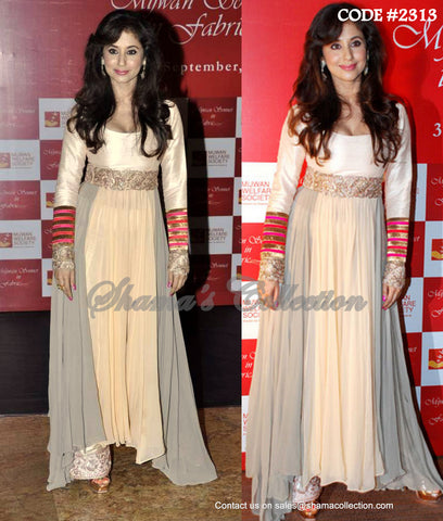 2313 Urmila Matondkar's high-low anarkali and palazzo