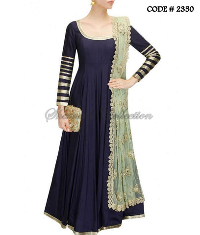 2350 Midnight blue floor length anarkali suit
