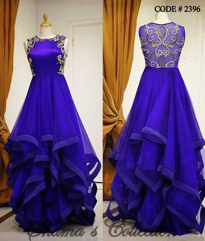 2396 Cobalt (Blue) Square Ghera Gown