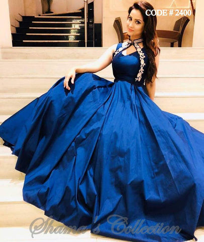 2400 Adaa Khan's Blue Gown