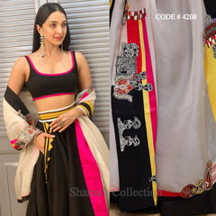 4208 Kiara Advani's black and white lehenga