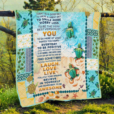 turtle-beach-today-is-a-good-day-quilt-blanket--pod0801qlt0014