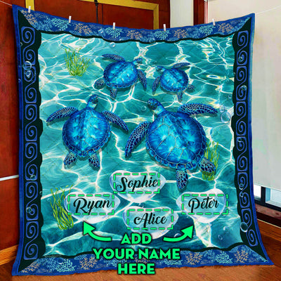 personalized-turtle-custom-four-names-quilt-blanket--pod0801qlt0013