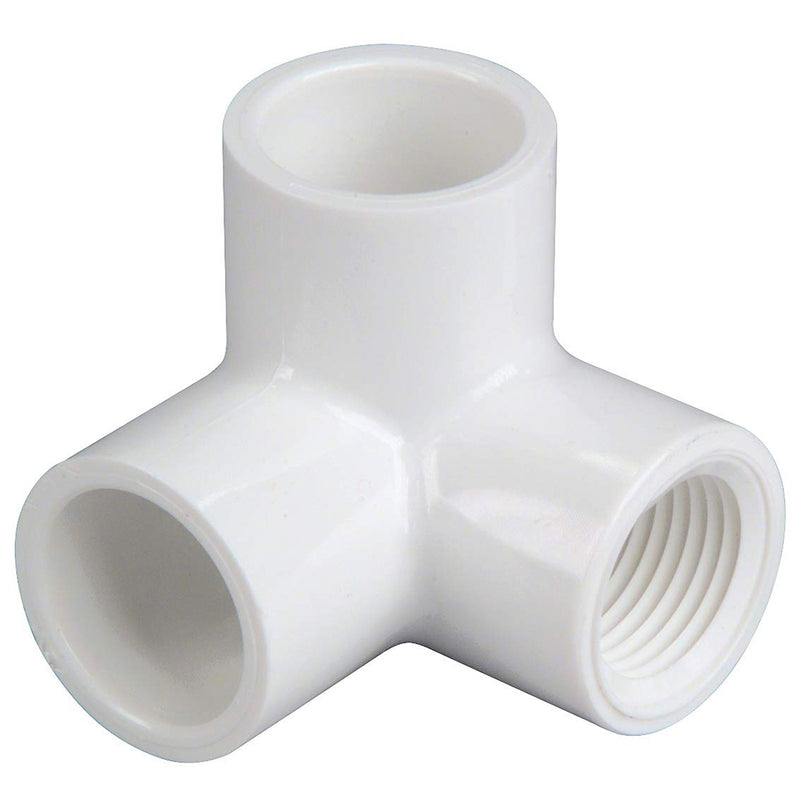 "1 1/2"" SOCKET FLANGE VACUUM FITTING- WHITE (SLIP)"