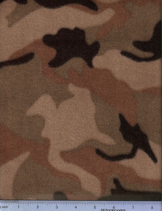 Brown camouflage fleece - washable dog bed cover.