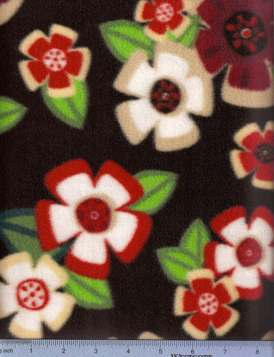 Black fleece with hawaiian flowers. Easy to wash dog bed cover.