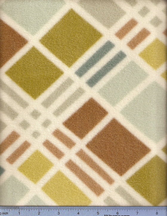 Neutral geometric pattern on fleece dog bed fitted sheet cover.