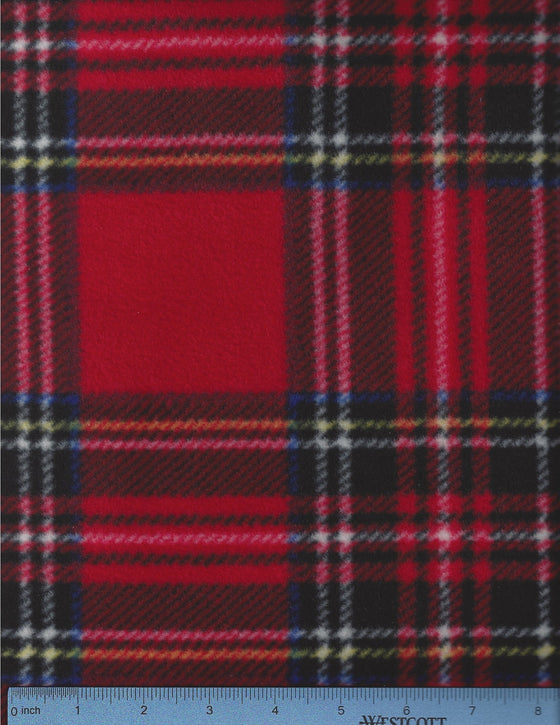 Traditional red plaid fleece.  Good replacement cover.