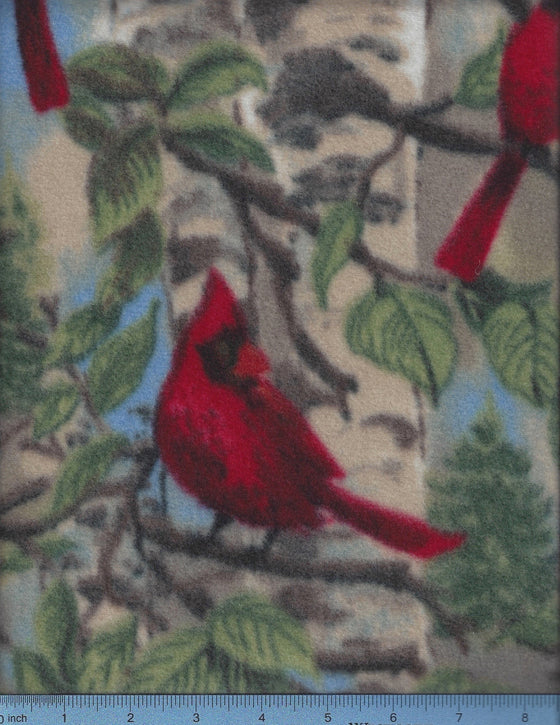 Cardinal print fleece-dog bed sheet cover