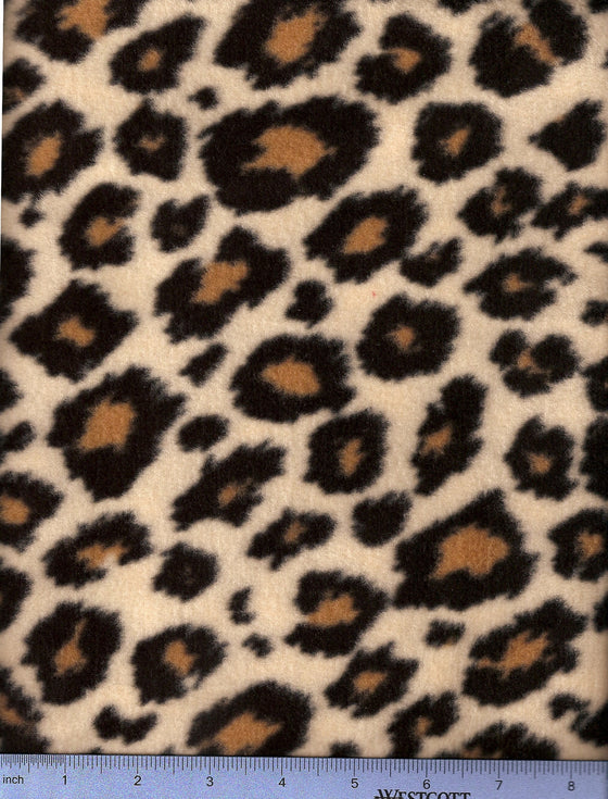 Cheetah pattern fleece -brown spots circled in black- covers for dog beds.