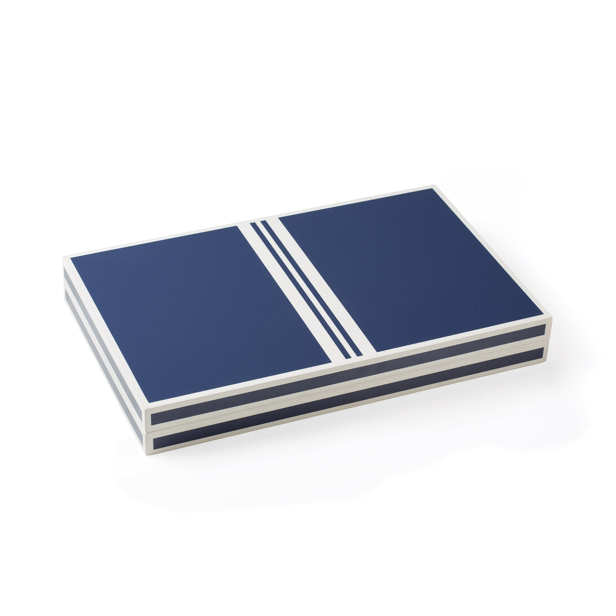 Blue and White Backgammon Game