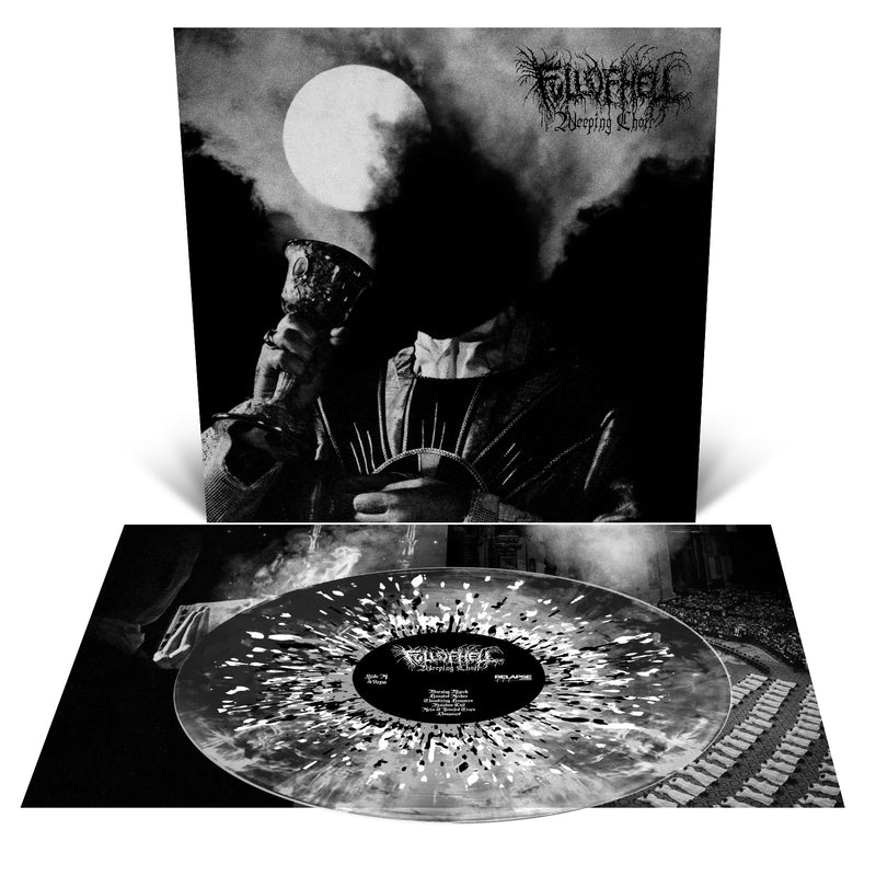 Full of Hell 'Weeping Choir' Clear with Black Smoke and Metallic Silver, Gold and White Splatter LP