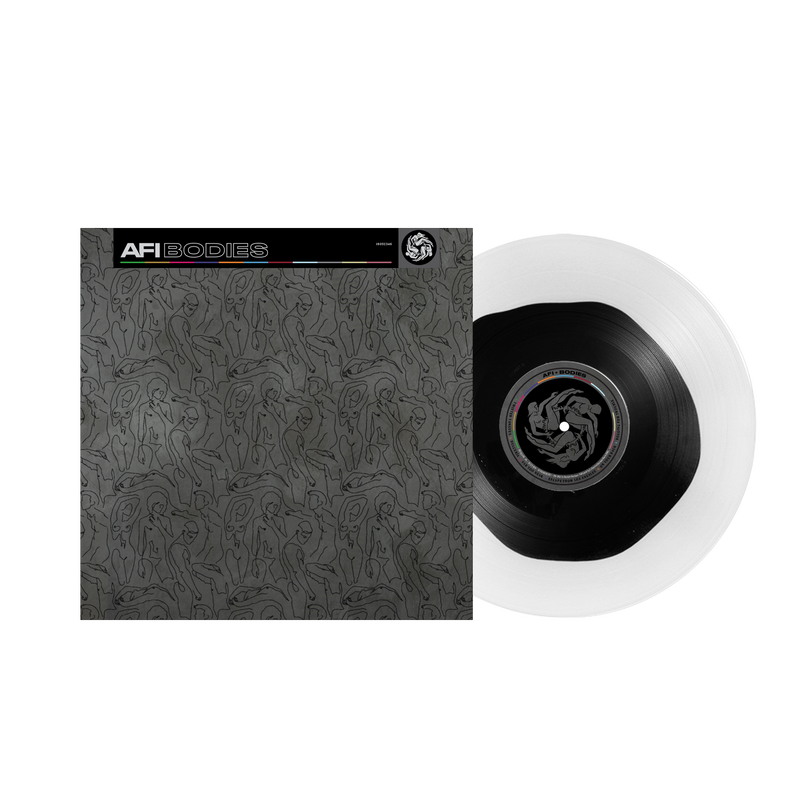 AFI 'BODIES' LIMITED-EDITION CLEAR WITH BLACK BLOB LP — ONLY 300 MADE