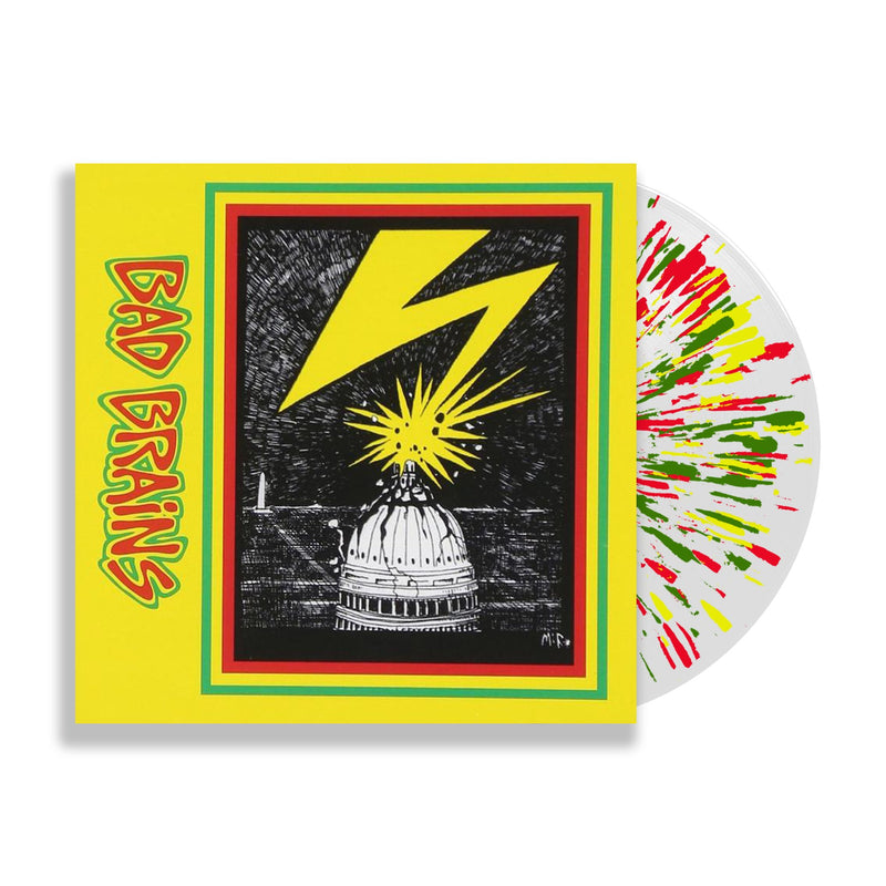 BAD BRAINS 'BAD BRAINS' LIMITED-EDITION CLEAR WITH YELLOW RED AND GREEN SPLATTER LP — ONLY 750 MADE