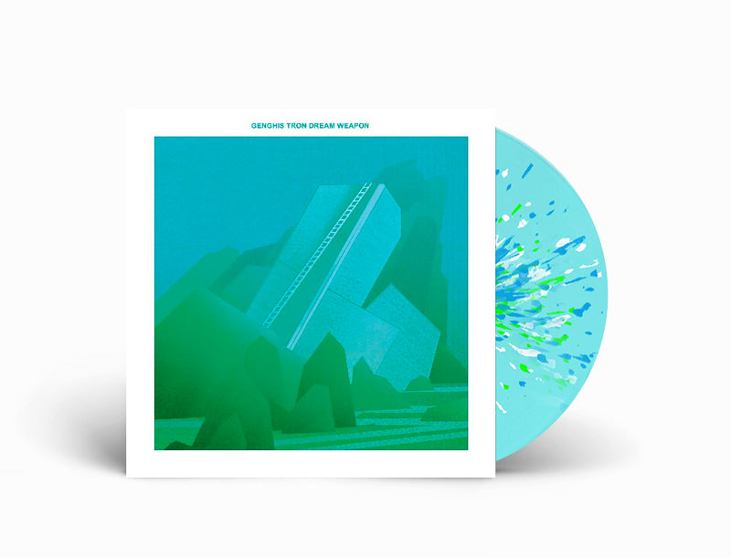 GENGHIS TRON 'DREAM WEAPON' LIMITED-EDITION ELECTRIC BLUE WITH WHITE, CYAN BLUE, AND NEON GREEN SPLATTER LP— ONLY 250 MADE