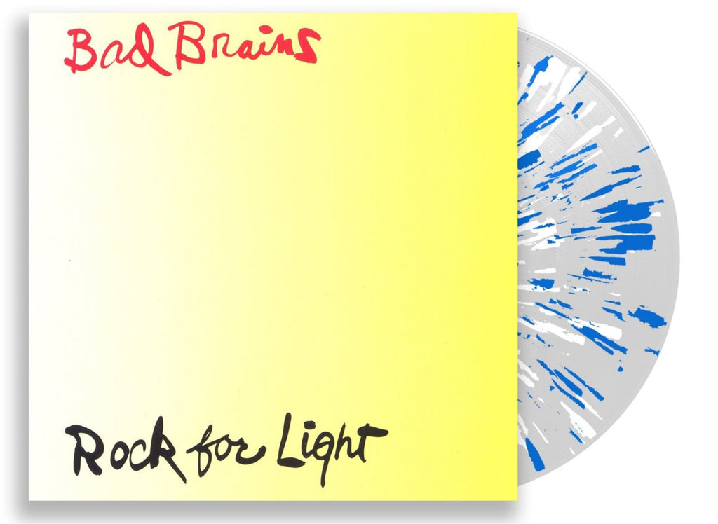 BAD BRAINS 'ROCK FOR LIGHT' LIMITED EDITION CLEAR W/ WHITE & BLUE SPLATTER LP — ONLY 350 MADE