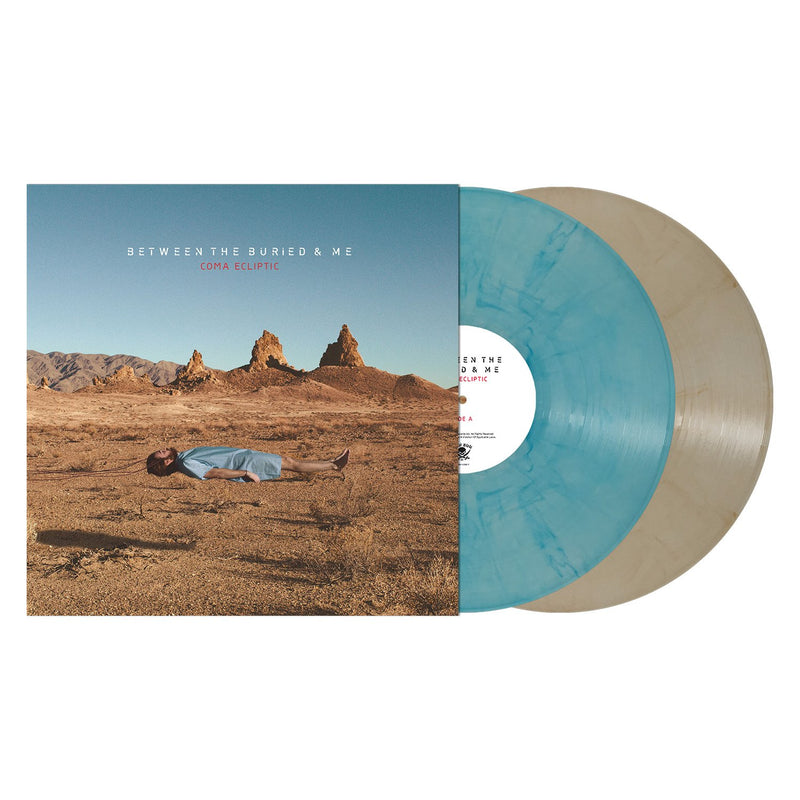 BETWEEN THE BURIED AND ME 'COMA ECLIPTIC' TRANSPARENT BLUE BROWN MARBLE 2LP