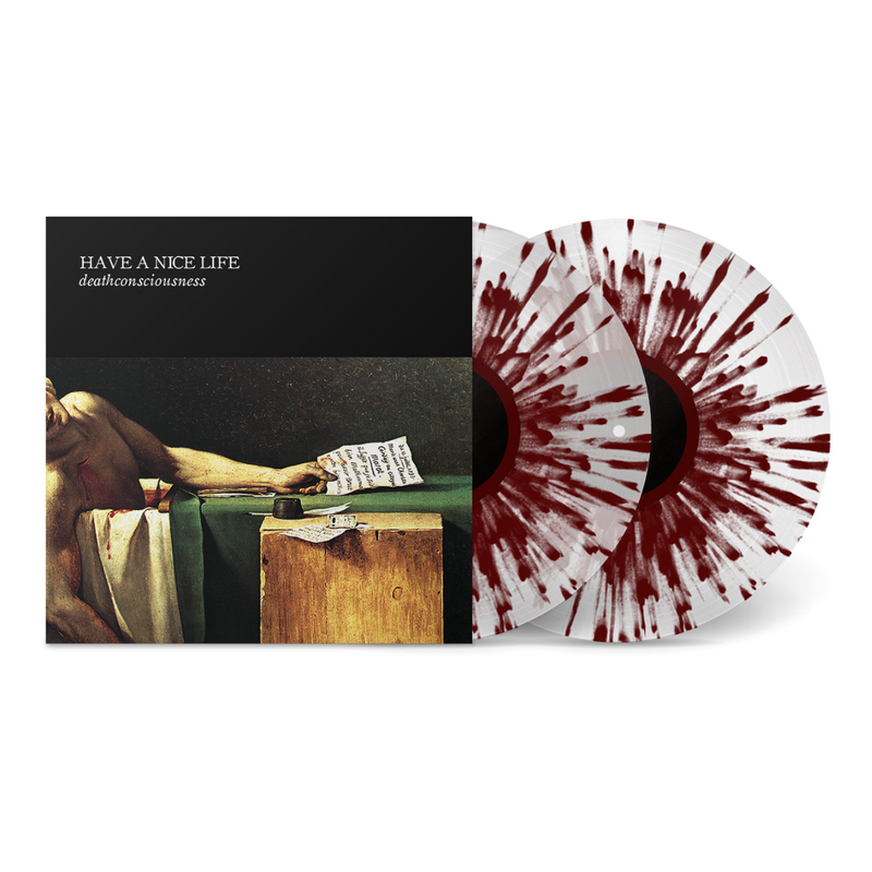 HAVE A NICE LIFE 'DEATHCONSCIOUSNESS' LIMITED-EDITION OXBLOOD SPLATTER ON ULTRA CLEAR 2LP — ONLY 300 MADE