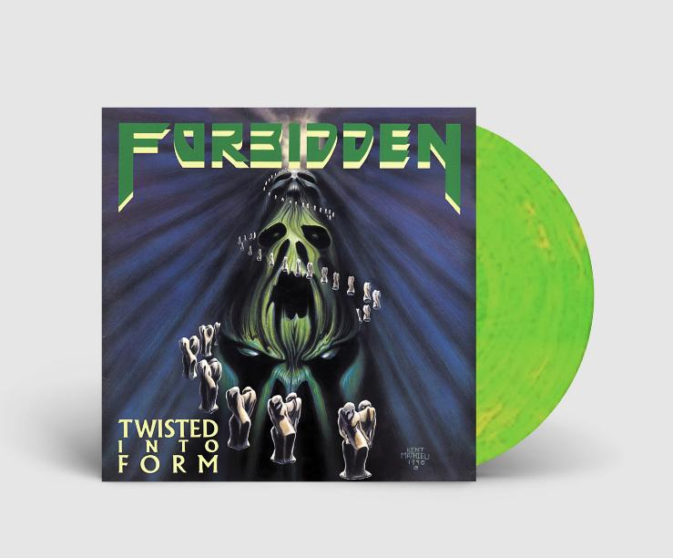 FORBIDDEN 'TWISTED INTO FORM' LIMITED-EDITION SPRING GREEN & CANARY YELLOW SWIRL LP— ONLY 250 MADE