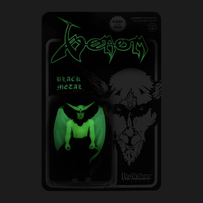 VENOM REACTION FIGURE - BLACK METAL (GLOW IN THE DARK)