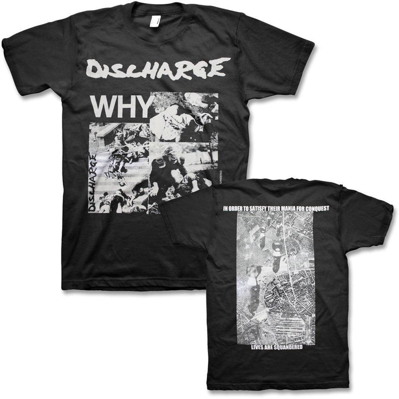 DISCHARGE WHY T-SHIRT