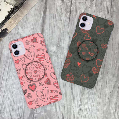 Heart Print Slim Matte Case - ShopOnCliQ