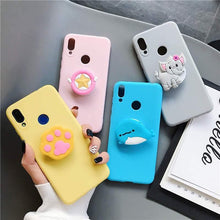 Load image into Gallery viewer, Cartoon Cute Animal Bracket Phone Case With Holder - ShopOnCliQ
