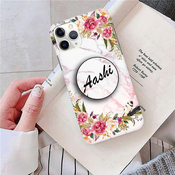 Flower Print Customized Back Cover - ShopOnCliQ