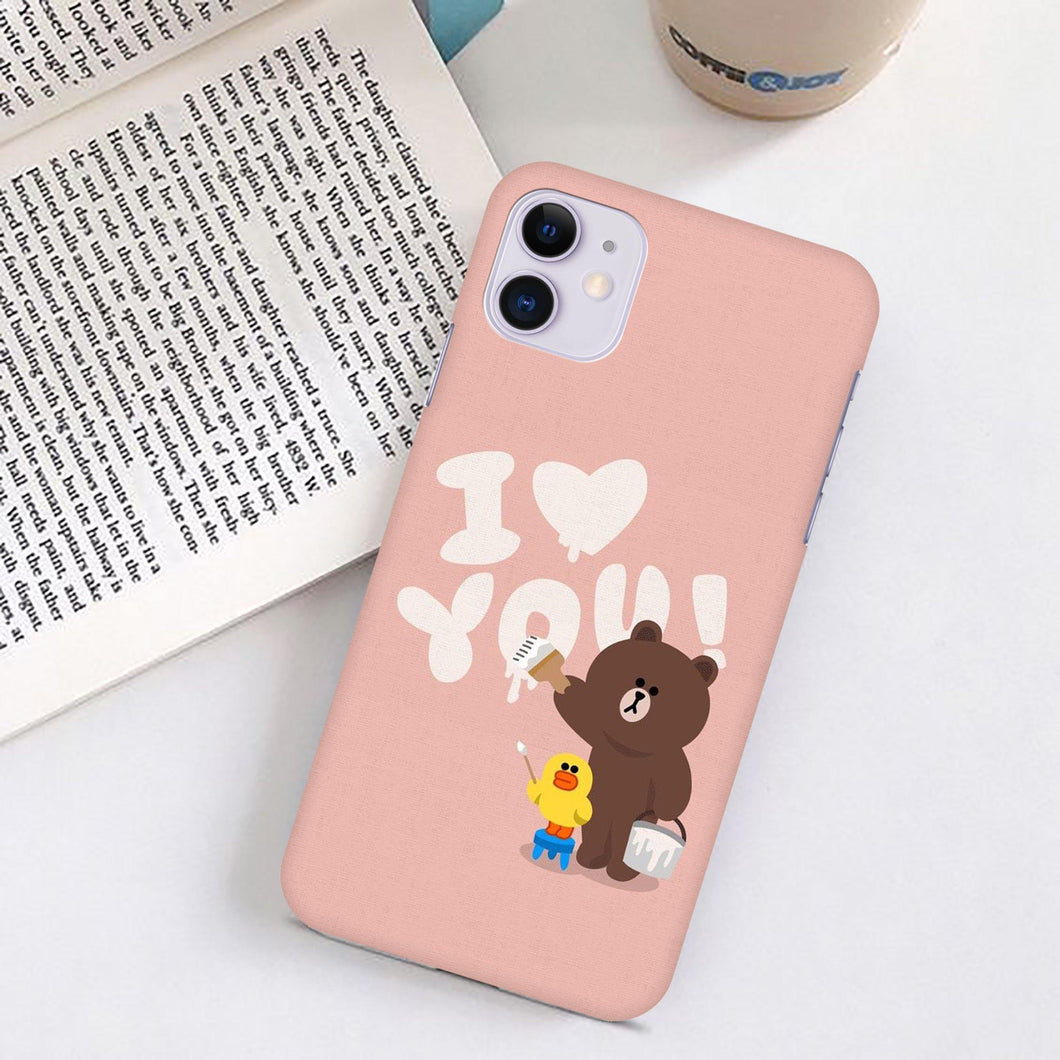 Bear Print Slim Matte Case - ShopOnCliQ