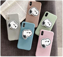 Load image into Gallery viewer, Plain Stuff Multicolour Case With Snoopy Phone Holder - ShopOnCliQ