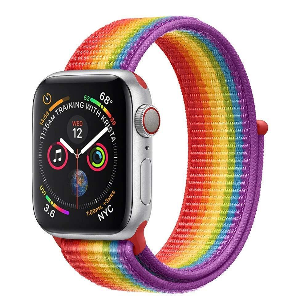 Pride Rainbow Nylon Loop Sport Strap Band for iWatch - ShopOnCliQ